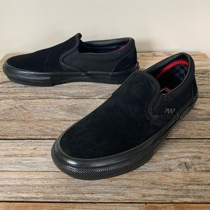 VANS Skate Slip-On Black Suede Shoes
